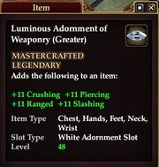 Luminous Adornment of Weaponry (Greater)