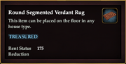 Round Segmented Verdant Rug