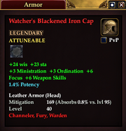 Watcher's Blackened Iron Cap