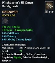 Witchdoctor's Ill Omen Handguards