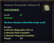 Armorer Essentials Volume 25