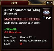 Astral Adornment of Fading (Superior)