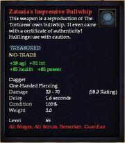 Zatozia's Impressive Bullwhip
