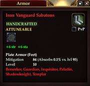 Iron Vanguard Sabatons