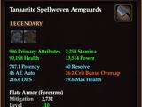 Tanaanite Spellwoven Armguards