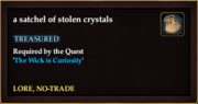 A satchel of stolen crystals