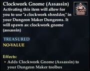 Clockwork Gnome (Assassin)