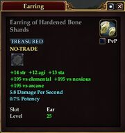 Earring of Hardened Bone Shards