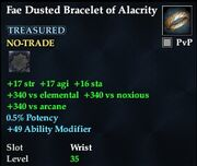 Fae Dusted Bracelet of Alacrity