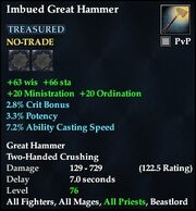 Imbued Great Hammer