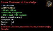 Arcane Vambraces of Knowledge