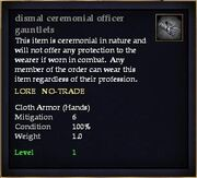 Dismal ceremonial officer gauntlets