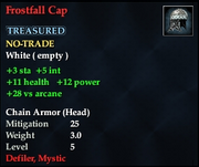 Frostfall Cap