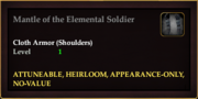 Mantle of the Elemental Soldier