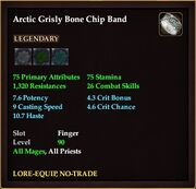 Arctic Grisly Bone Chip Band