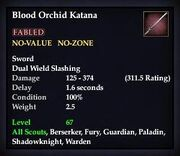 Blood Orchid Katana (TBoCH Good)