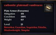 Carbonite platemail vambraces