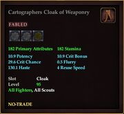 Cartographers Cloak of Weaponry