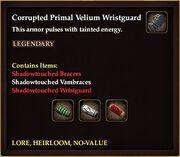 Corrupted Primal Velium Wristguard