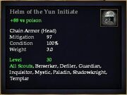 Helm of the Yun Initiate