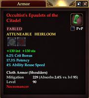 Occultist's Epaulets of the Citadel