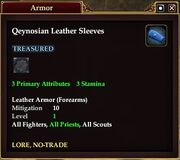 Qeynosian Leather Sleeves