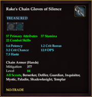 Rake's Chain Gloves of Silence