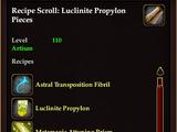 Recipe Scroll: Luclinite Propylon Pieces
