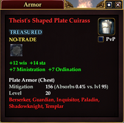 Theist's Shaped Plate Cuirass