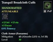 Tranquil Broadcloth Cuffs