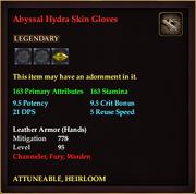 Abyssal Hydra Skin Gloves