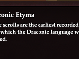 Draconic Etyma
