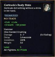 Gertrude's Rusty Stein