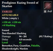 Prodigious Razing Sword of Skarlon