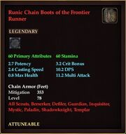 Runic Chain Boots of the Frontier Runner