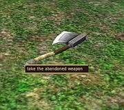 Abandoned weapon