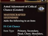 Astral Adornment of Critical Chance (Greater)