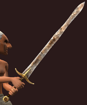 Imbued Iron Great Sword (Equipped)