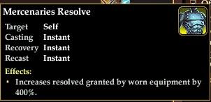 Merc resolve 400 percent