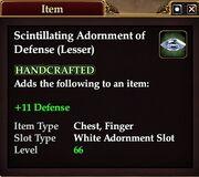 Scintillating Adornment of Defense (Lesser)