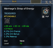 Warmage's Strap of Energy