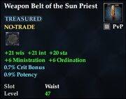 Weapon Belt of the Sun Priest