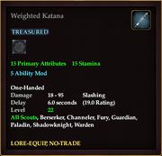 Weighted Katana