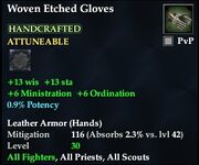 Woven Etched Gloves