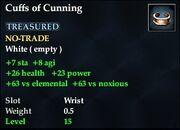 Cuffs of Cunning