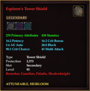 Explorer's Tower Shield