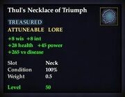 Thul's Necklace of Triumph