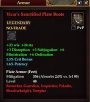 Vicar's Sanctified Plate Boots