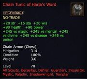 Chain Tunic of Harla's Word