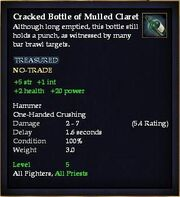 Cracked Bottle of Mulled Claret